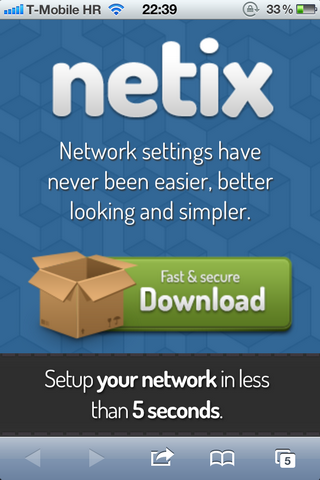Netix on iPhone